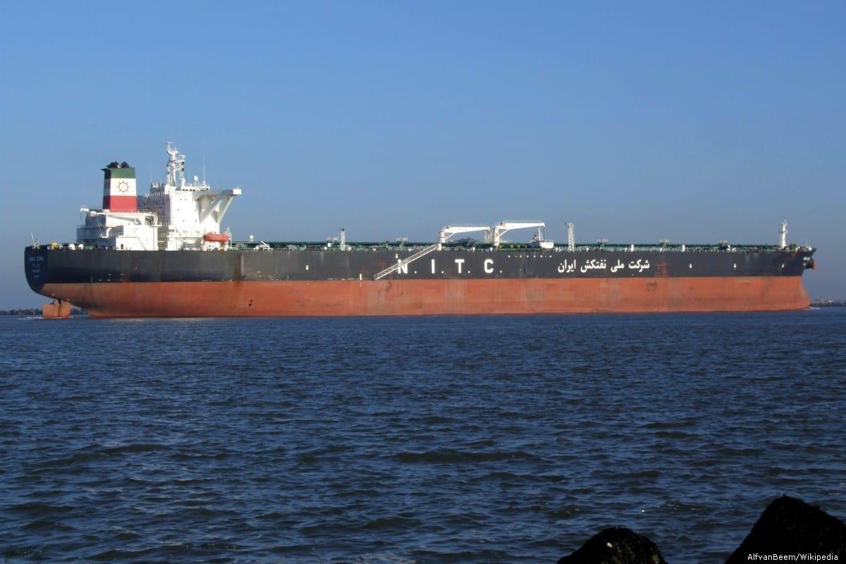 An Iranian oil tanker, Dena, seen approaching Port of Rotterdam, Holland on December 15, 2007 [AlfvanBeem/Wikipedia]