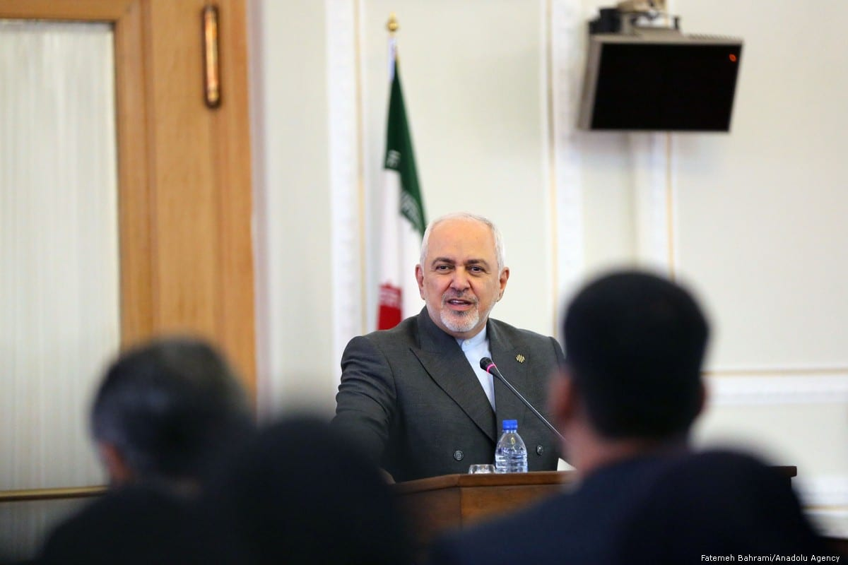 Iranian Foreign Minister Mohammad Javad Zarif speaks during a press conference in Tehran, Iran on 5 August 2019 [Fatemeh Bahrami/Anadolu Agency]