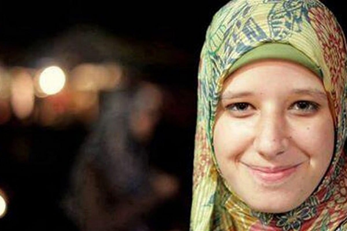 Asmaa Beltagi, a 17-year-old Egyptian teen was killed by Egyptian forces at the Rabaa Square sit-in in Cairo, Egypt on 14 August 2013