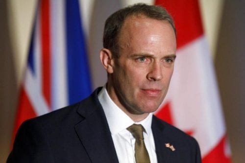 Dominic Raab, Britain's foreign secretary