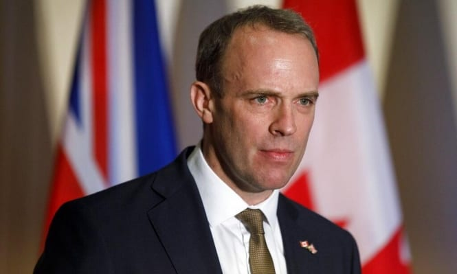 Dominic Raab, Britain's foreign secretary