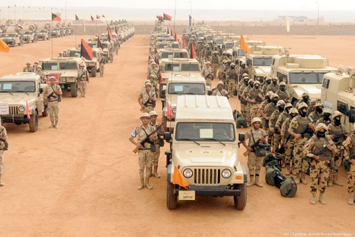 Egyptian armed forces in Siani [Pool/Egyptian Armed Forces/Anadolu Agency]
