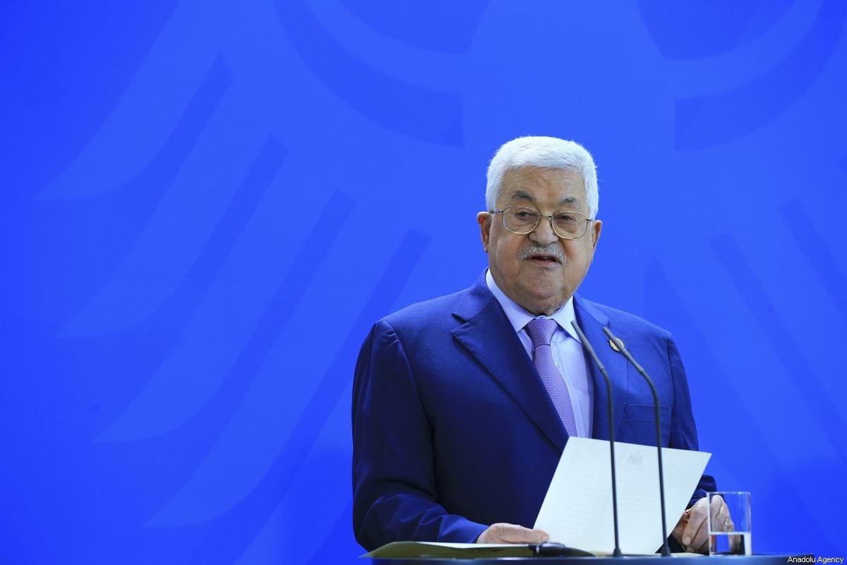 Palestinian President Mahmoud Abbas in Berlin, Germany on 29 August 2019 [Abdülhamid Hoşbaş/Anadolu Agency]