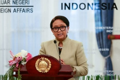 Indonesian Foreign Affairs Minister Retno Marsudi in Jakarta, Indonesia on 6 September 2019 [Anton Raharjo/Anadolu Agency]