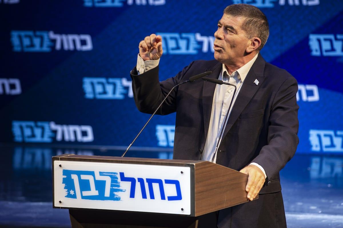 Gabi Ashkenazi during the final stage of Blue and White election campaign in Tel Aviv, Israel, 15 September 2019 [Faiz Abu Rmeleh - Anadolu Agency]