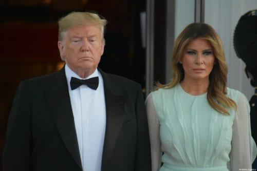 US President Donald Trump (L) and first lady Melania Trump (R) in Washington, DC on 20 September 2019 [Kyle Mazza/Anadolu Agency]