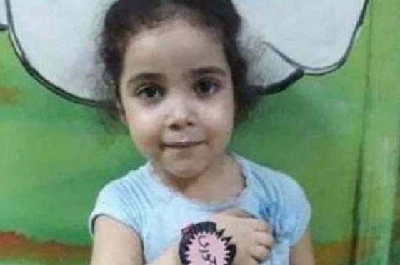 A five-year-old victim of abuse in Egypt, Ganna Mohamed Samir Hafez