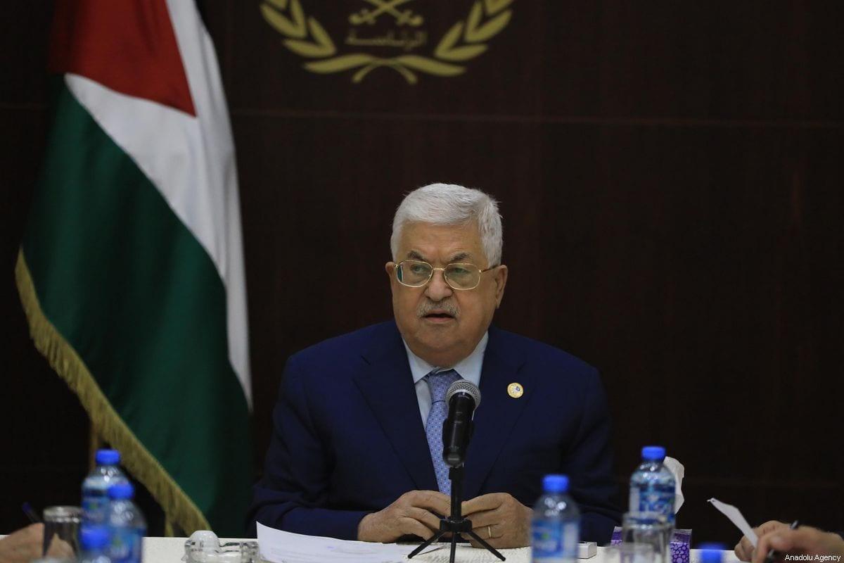 Palestinian President Mahmoud Abbas in Ramallah, West Bank on 3 October 2019 [İssam Rimawi/Anadolu Agency]