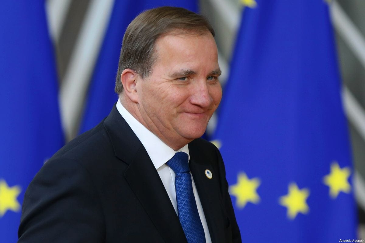 Prime Minister of Sweden Stefan Lofven In Brussels, Belgium on 17 October 2019 [Dursun Aydemir/Anadolu Agency]