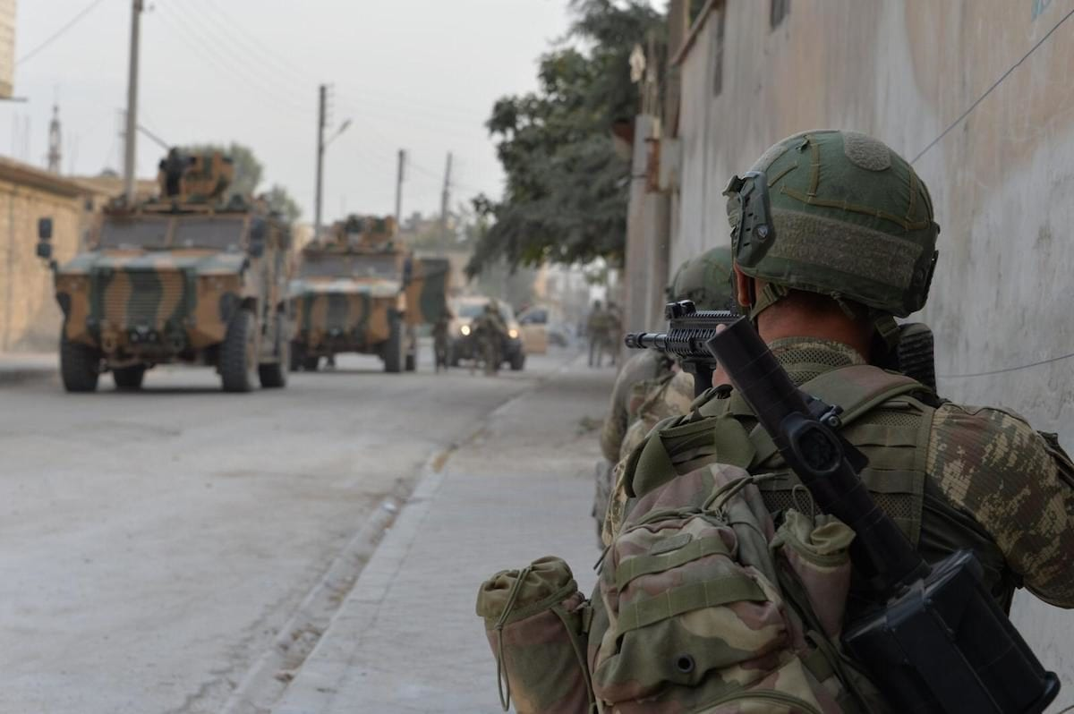 Members of Turkish Armed Forces (TSK) continue operations against the PKK, YPG within Turkey's Operation Peace Spring in Ras Al Ayn, Syria on 17 October 2019. [TURKISH ARMED FORCES / HANDOUT - Anadolu Agency]