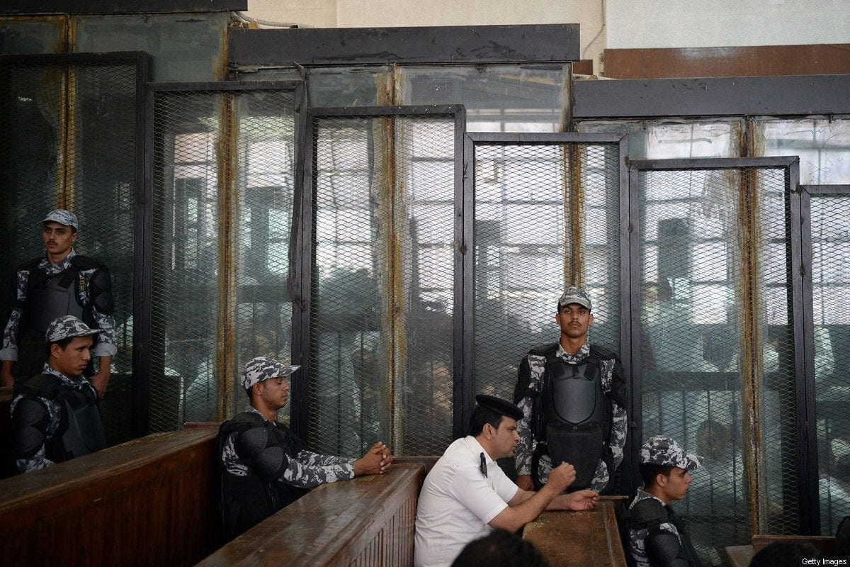 Egyptian courtroom in Cairo, Egypt on 8 September 2018 [MOHAMED EL-SHAHED/AFP/ Images]