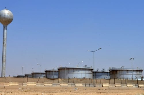 Aramco oil facility in Riyadh, Saudi Arabia on 15 September 2019 [FAYEZ NURELDINE/AFP/Getty Images]