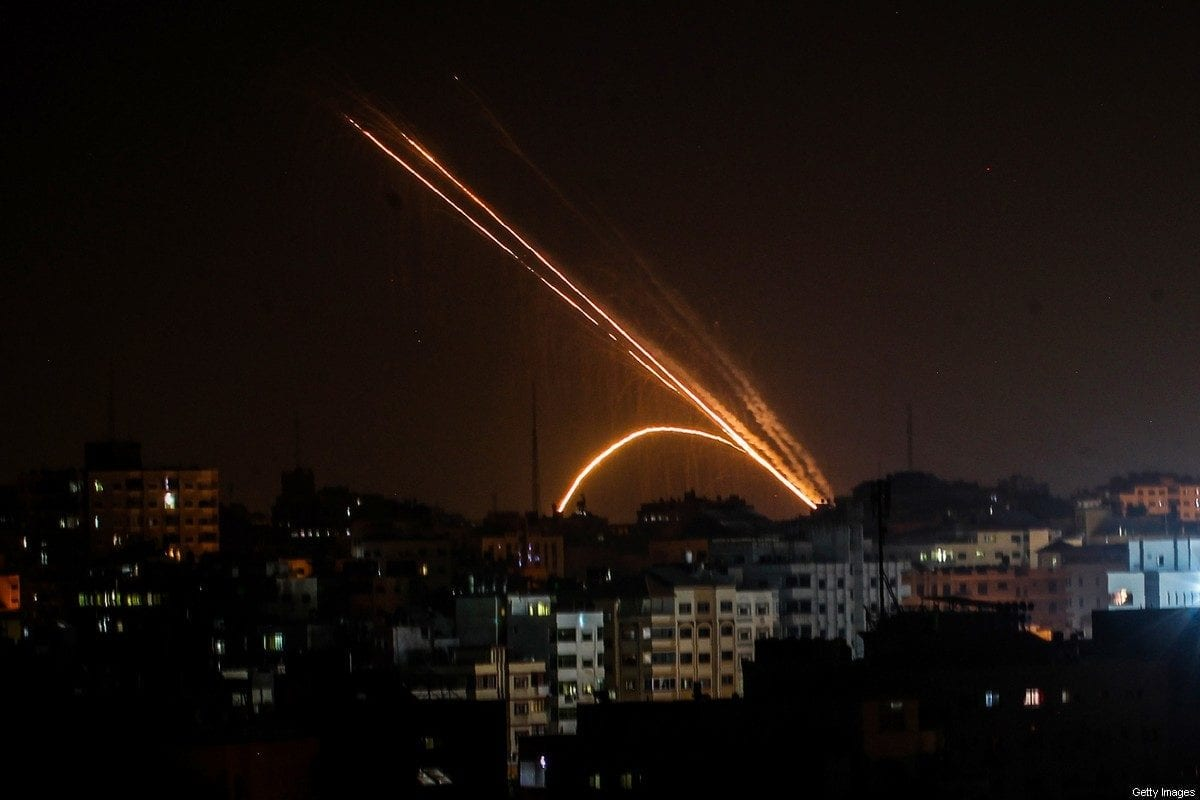 Rockets are fired from the Gaza Strip towards Israel on 13 November 2019 [ANAS BABA/AFP/Getty Images]