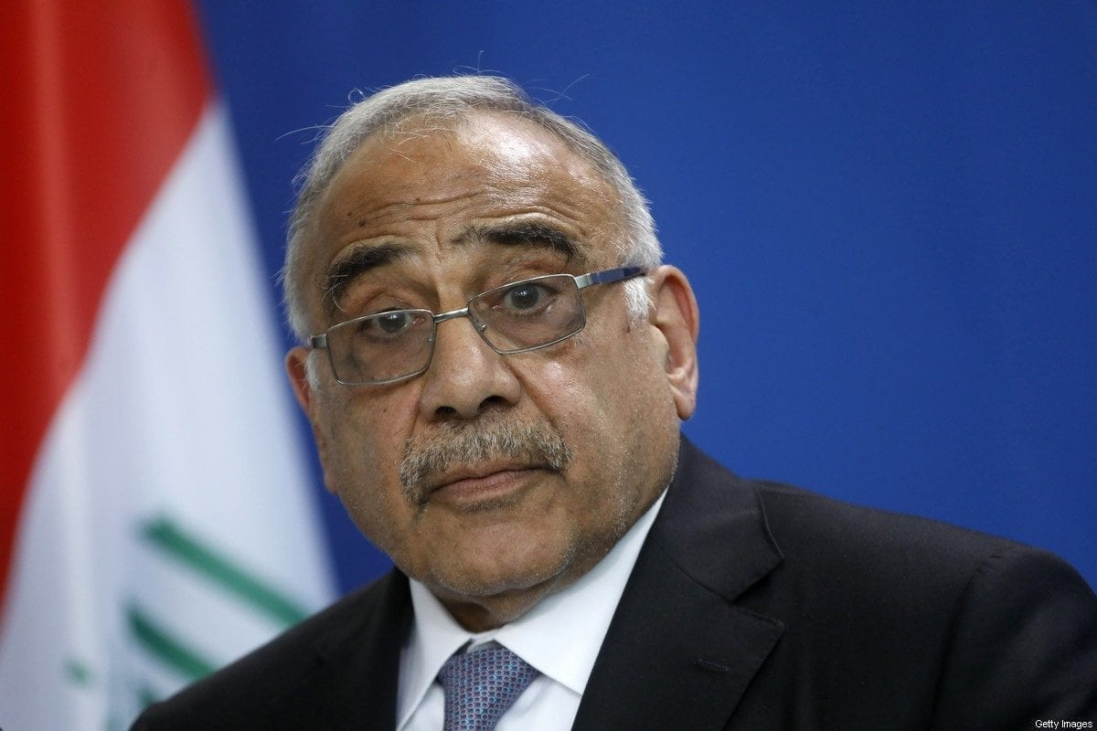 Iraqi Prime Minister Adil Abdul-Mahdi in Berlin, Germany on 30 April 2019 [Michele Tantussi/Getty Images]