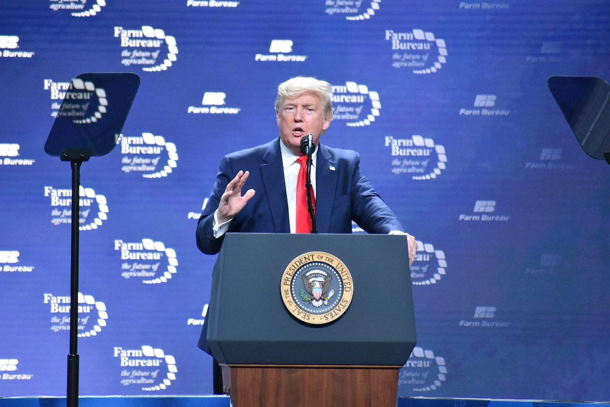 US President Donald Trump in Texas, US on 19 January 2020 [Kyle Mazza/Anadolu Agency]