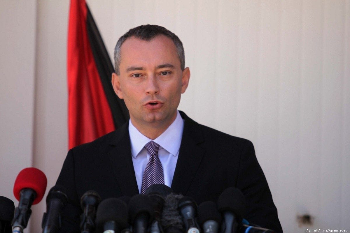 United Nations (UN) Special Coordinator for the Middle East Peace Process, Nickolay Mladenov on 30 April 2015 in Gaza city [Ashraf Amra/Apaimages]