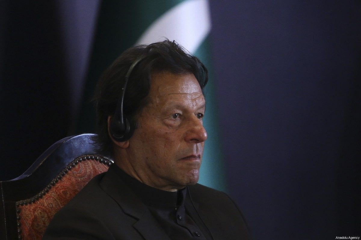 Prime Minister of Imran Khan in Islamabad, Pakistan on February 14, 2020 [Erçin Top/Anadolu Agency]