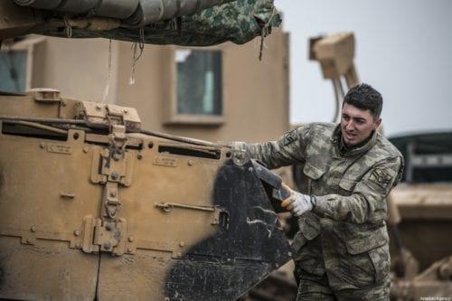 Turkish armed forces in Hatay, Turkey on 14 February 2020 [Cem Genco/Anadolu Agency]