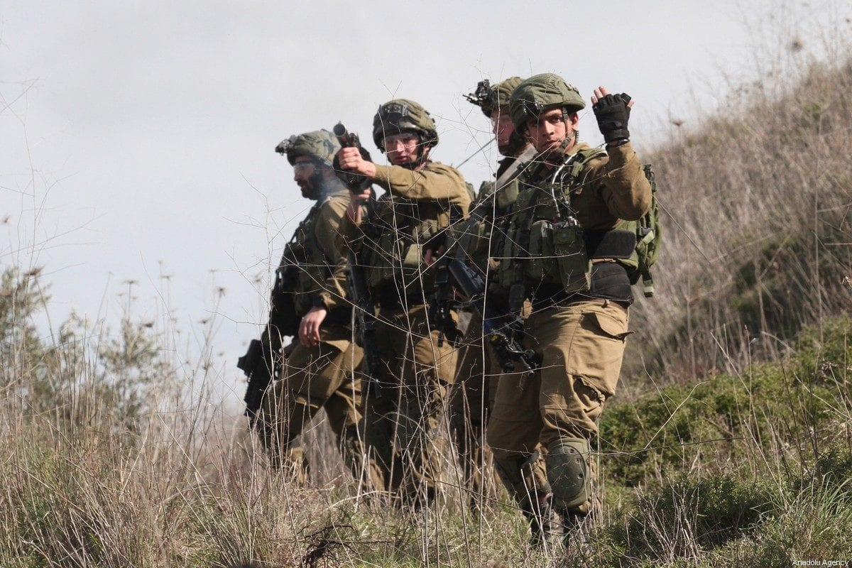 Israeli soldiers in the West Bank on 21 February 2020 [Nedal Eshtayah/Anadolu Agency]