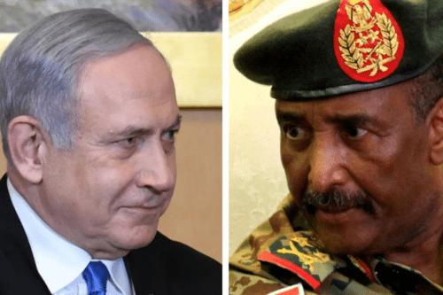 Israeli Prime Minister Benjamin Netanyahu held talks with Abdel Fattah al-Burhan, head of Sudan's sovereign council [Twitter]
