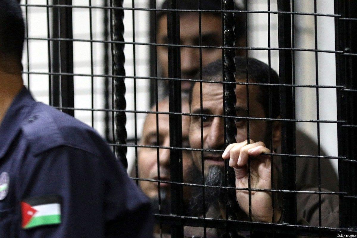 Prisoners inside a cell in Amman, Jordan on 13 November 2018 [KHALIL MAZRAAWI/AFP/Getty Images]