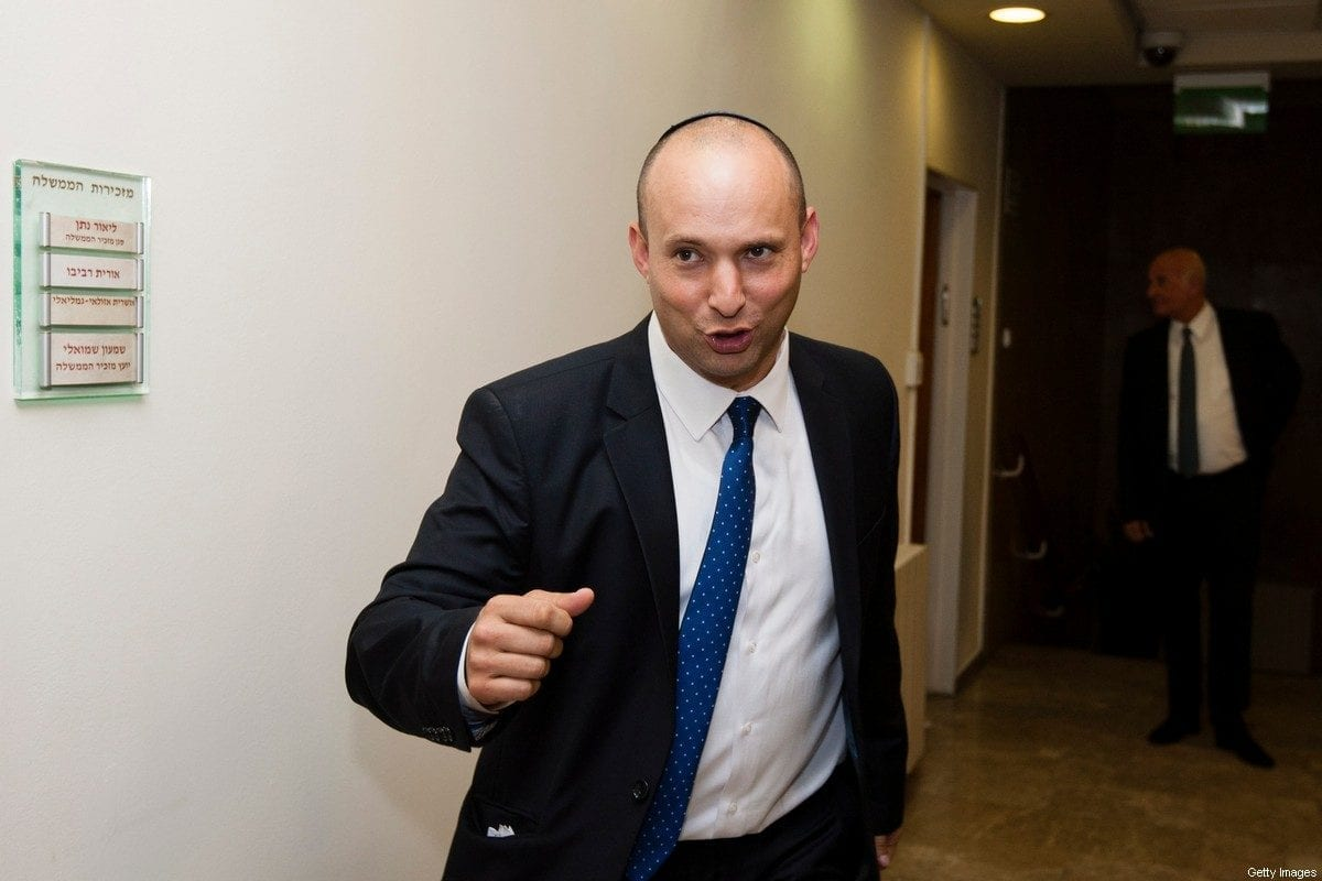 Politician of Israel's Jewish Home party, Naftali Bennett seen after a swearing-in at the Israeli Prime Minister's Office on March 18, 2013 in Jerusalem [David Vaaknin-Pool/Getty Images]