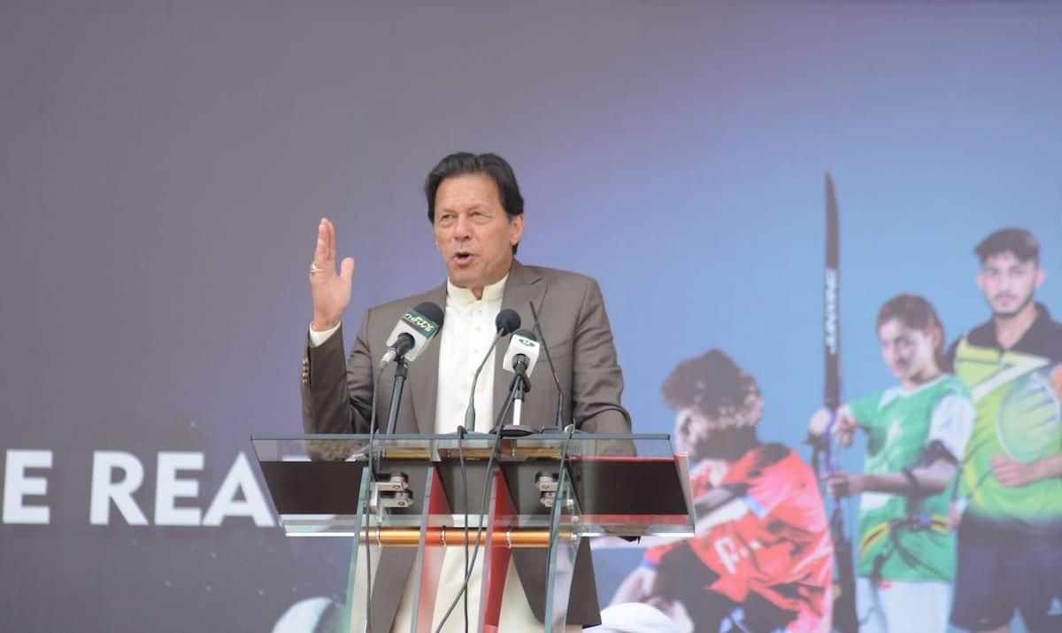 Pakistani Prime Minister Imran Khan in Peshawar, Pakistan on 9 March 2020 [Hussain AliAnadolu Agency]