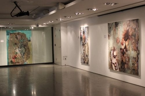Syrian artist Nour Zantah latest exhibition, 'Ataxia', at the P21 Gallery in London UK, 31 March 2020