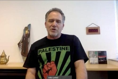Miko Peled speaks during an online seminar to mark Palestinian Prisoners' Day 2020