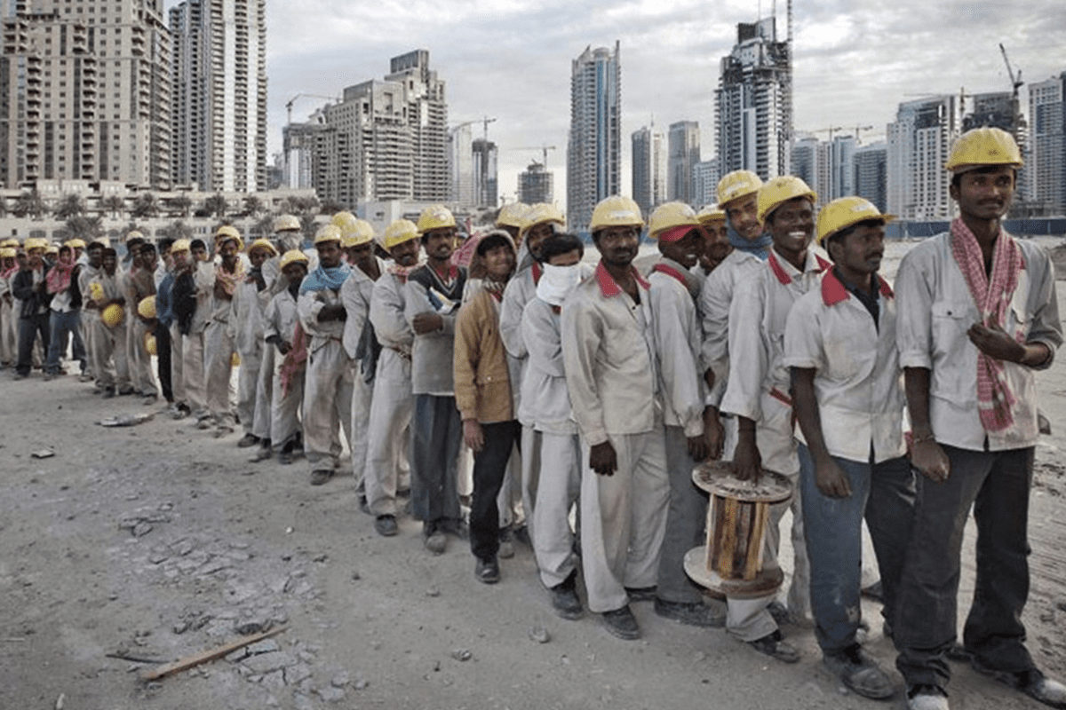 Pakistani workers in the UAE [Twitter]