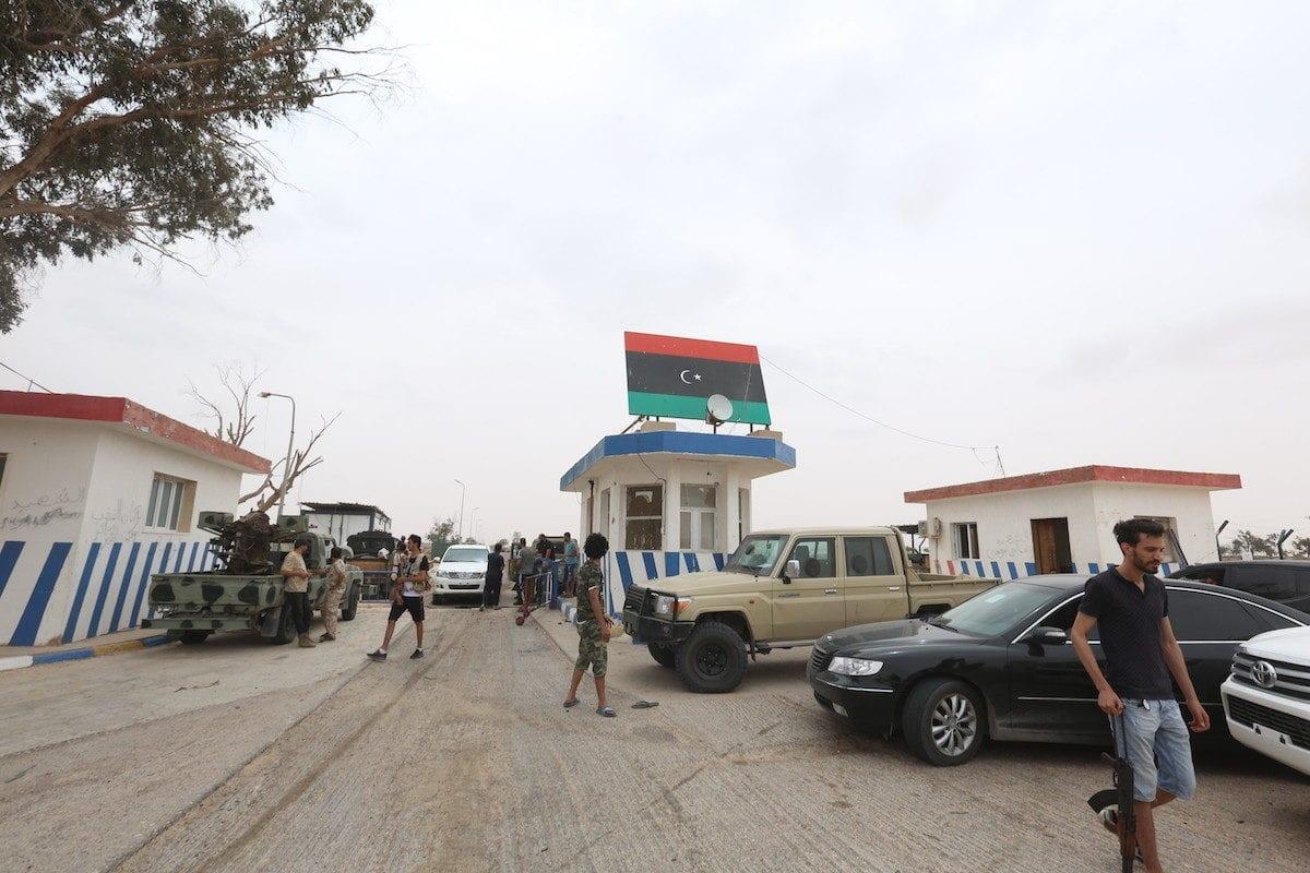 A view of Al-Watiya airbase, previously occupied by Khalifa Haftar's militias, is seen after the Libyan army retook it as part of its 'Volcano of Rage' Operation in Tripoli, Libya on May 18, 2020 [Hazem Turkia / Anadolu Agency]