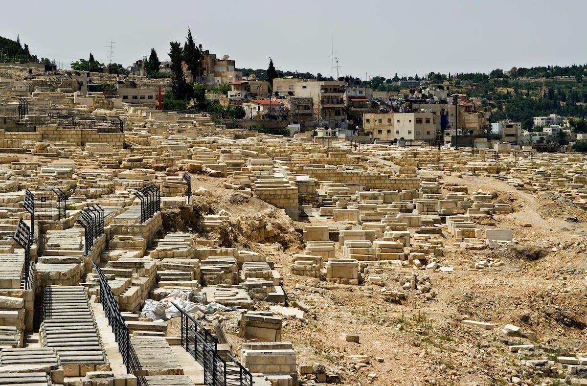 Mount of Olives Jewish Cemetery in Jerusalem [Wikipedia]
