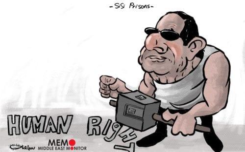 Sisi's Prisons - Cartoon [Sabaaneh/MiddleEastMonitor]