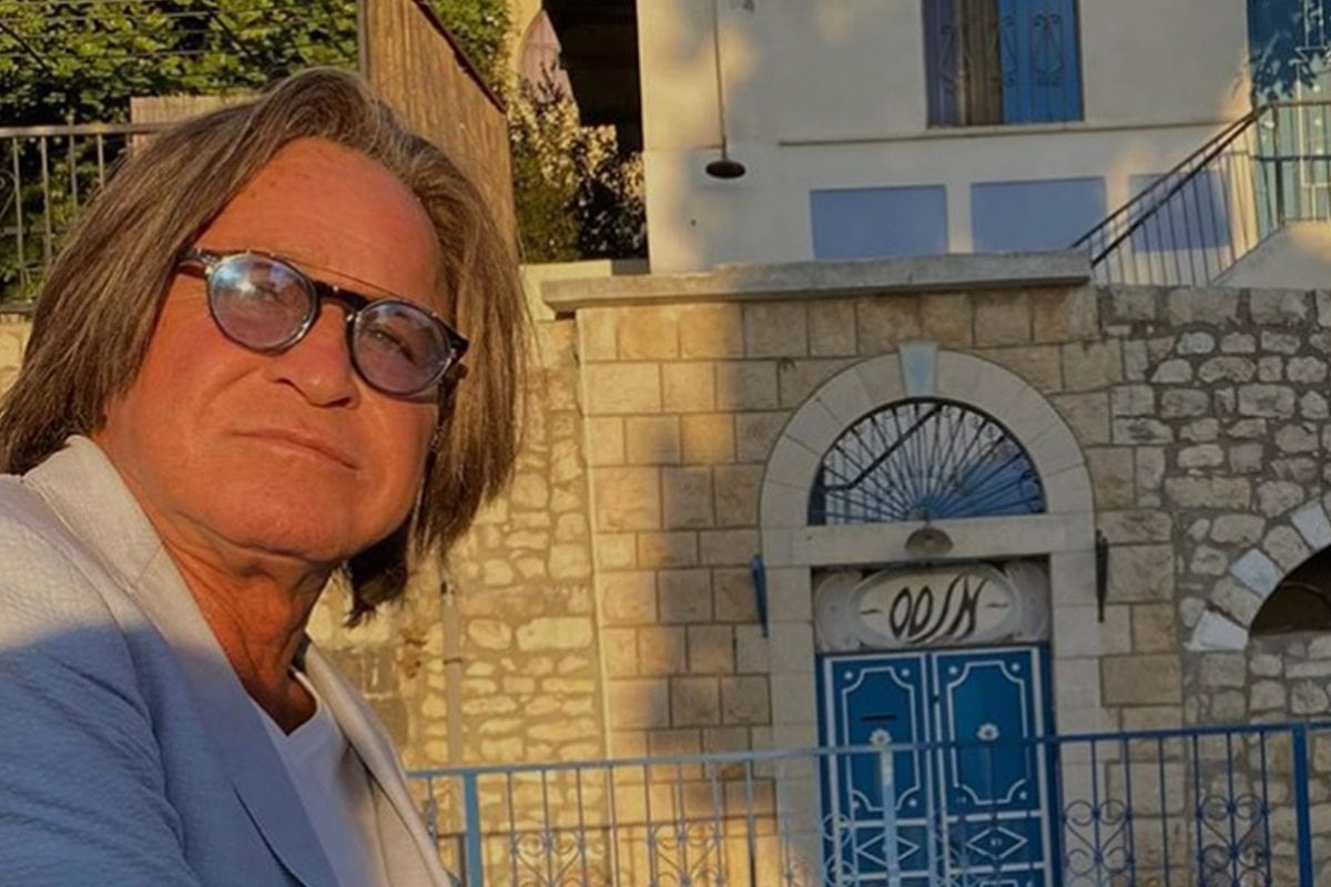 Palestinian-born Mohammed Hadid posted a photograph on Instagram of himself standing outside his family's home in the city of Safad in Palestine from which the family was evicted in 1948 by Jewish immigrants [Mohamed Hadid/Instagram]