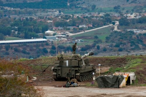 Israeli troops are pictured in the Israeli-annexed Golan Heights in Syria on 3 January 2020 [JALAA MAREY/AFP/Getty Images]