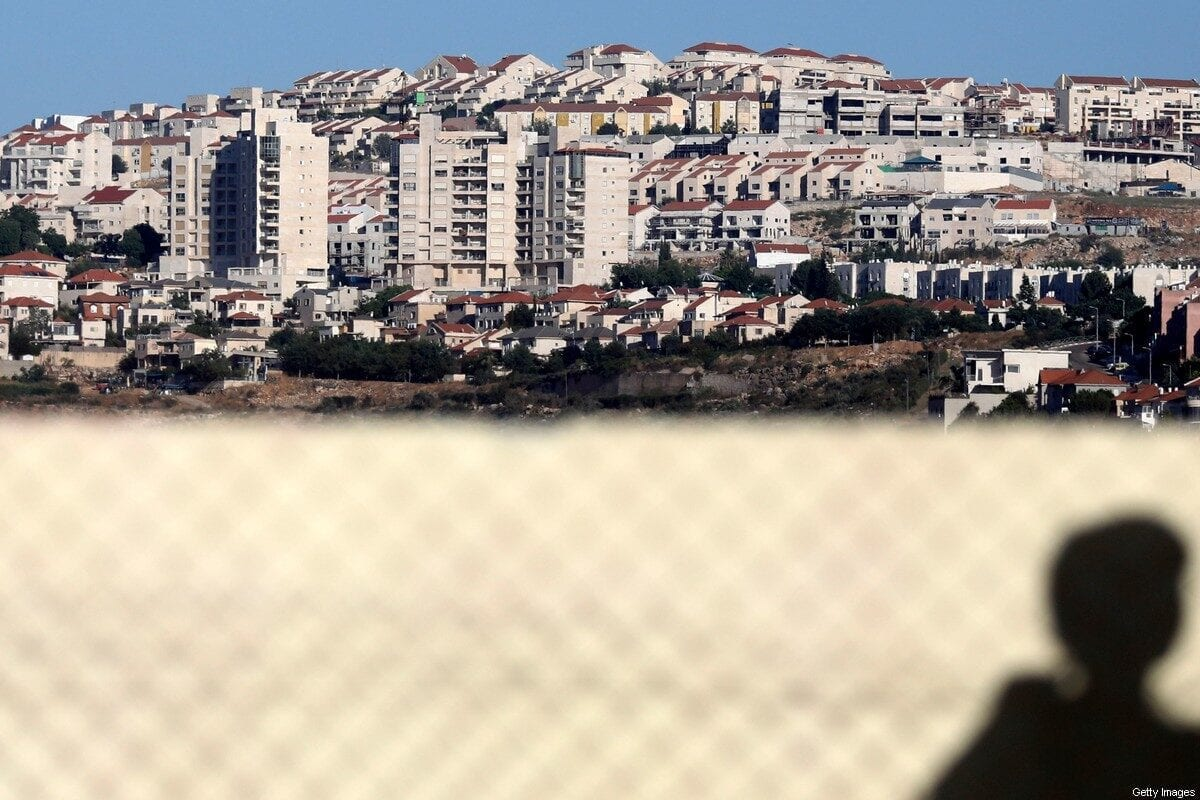 A picture taken from the Palestinian village of Qirah, south of Nablus, shows the illegal Israeli settlement of Ariel in the background on June 22, 2020 [JAAFAR ASHTIYEH/AFP/Getty Images]