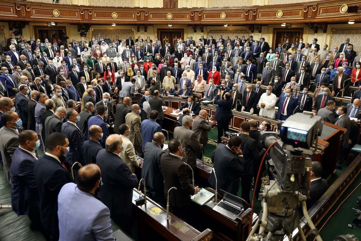 Egypt's parliament greenlighted behind a closed-doors session later today, the possible deployment of troops in Libya to support Cairo's ally Khalifa Haftar, if rival Turkish-backed forces recapture the city of Sirte, the house said, in the capital Cairo on July 20, 2020 [Photo by AFP via Getty Images]