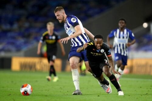 Football match between Brighton & Hove Albion v Manchester City on 11 July 2020 in Brighton, England. [Julian Finney/Getty Images]