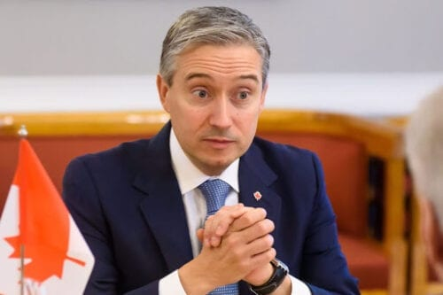 Canadian Minister of Foreign Affairs Francois-Philippe Champagne on March 3, 2020 [GINTS IVUSKANS/AFP via Getty Images]