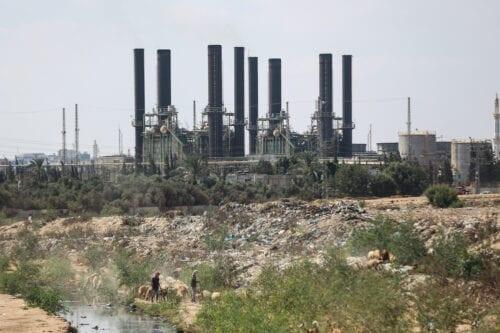 Gaza Strip's sole power plant in Gaza Strip, Gaza on August 18, 2020 [Ali Jadallah/Anadolu Agency]