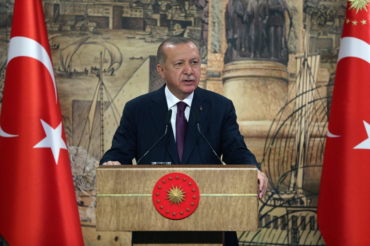 President of Turkey, Recep Tayyip Erdogan in Istanbul, Turkey on August 21, 2020 [Tur Presidency/Murat Cetinmuhurdar/Anadolu Agency]