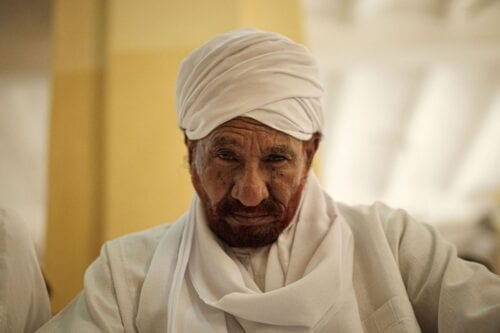 Sudanese top opposition leader and former premier Sadiq al-Mahdi on 14 June 2019 [YASUYOSHI CHIBA/AFP via Getty Images]