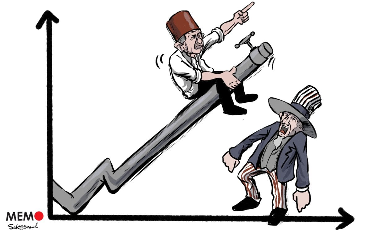 Turkey aims to rid itself of the shackles imposed by energy imports thanks to the natural gas found in the Black Sea - Cartoon [Sabaaneh/MiddleEastMonitor]