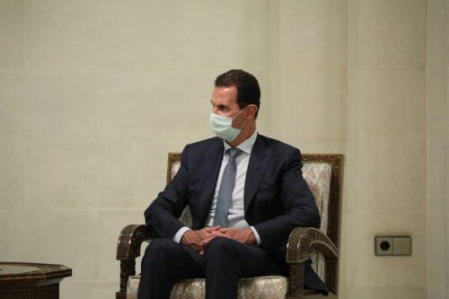 Syrian President Bashar Al-Assad in Damascus, Syria on 7 September 2020 [Russian Foreign Ministry/Anadolu Agency]
