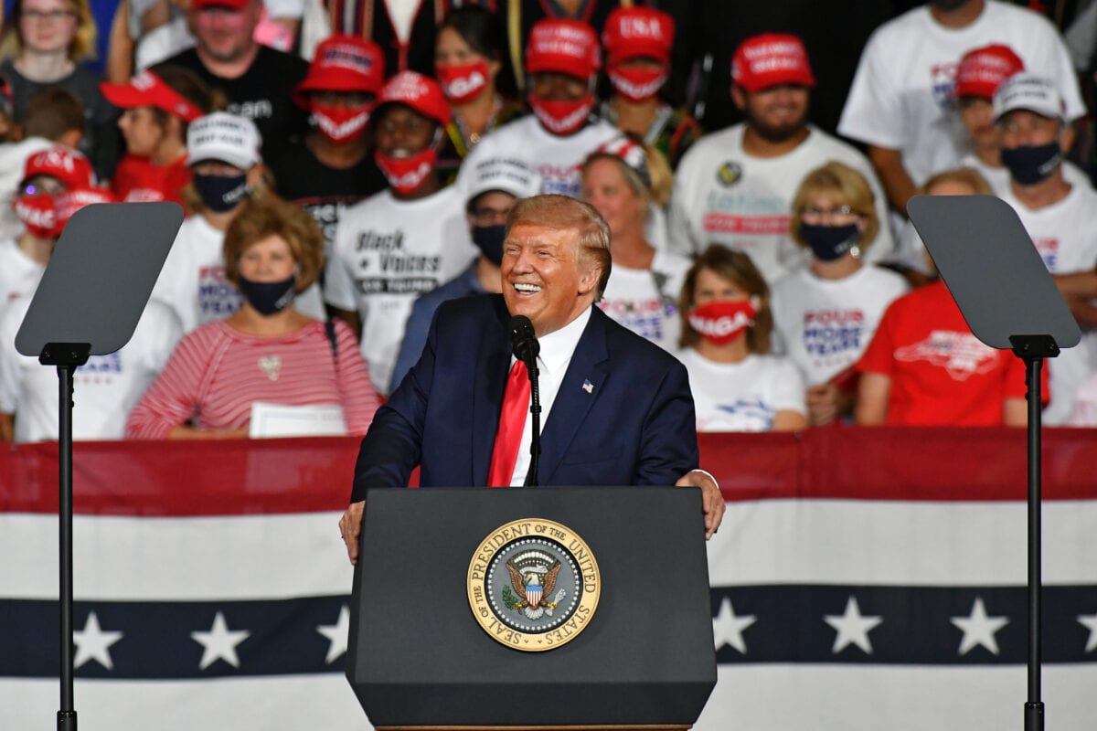 President Trump holds a Make America Great Again campaign rally in Winston-Salem, NCUnited States on September 8, 2020 [Peter Zay - Anadolu Agency]