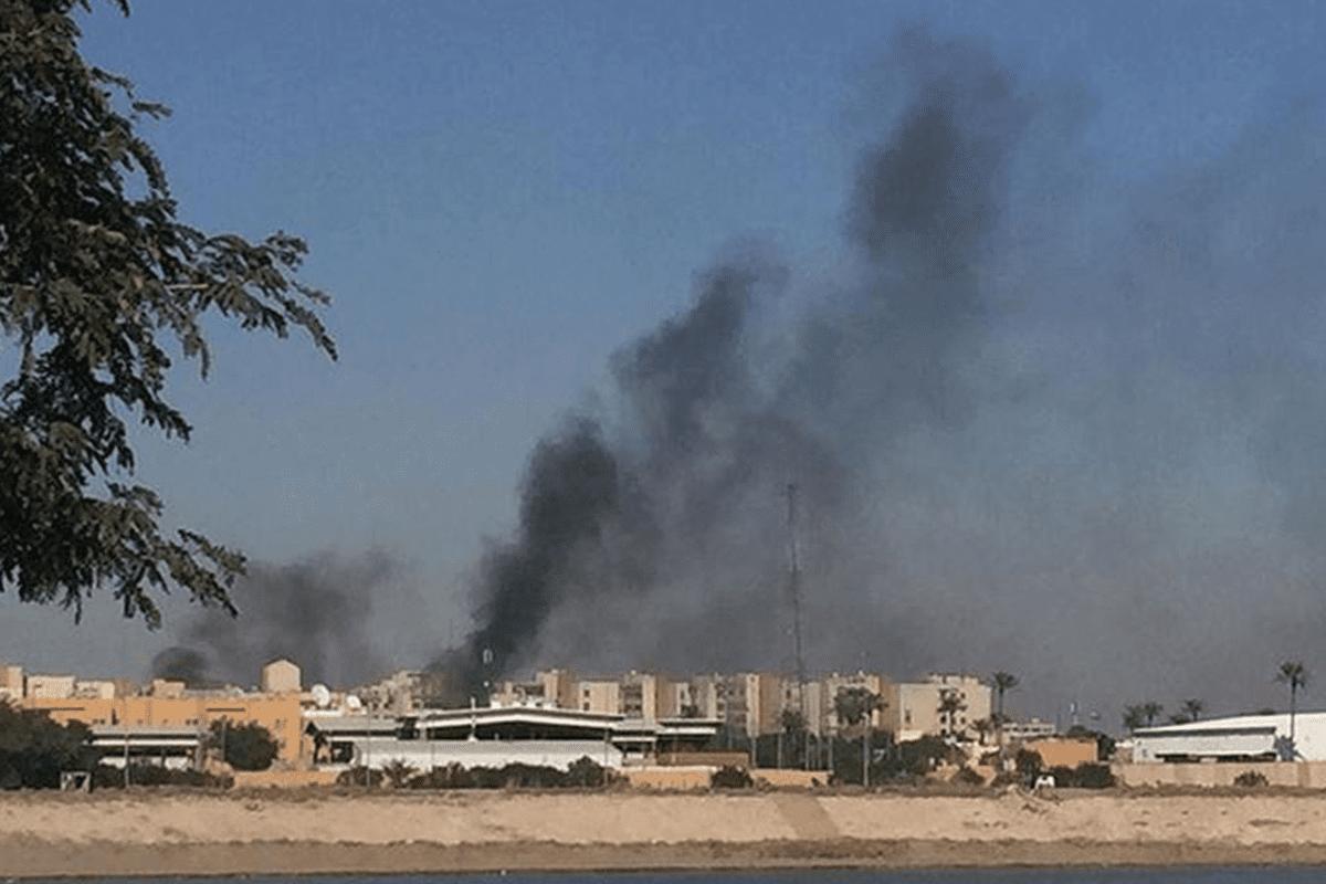 Smoke rises in Baghdad [Anadolu Agency]