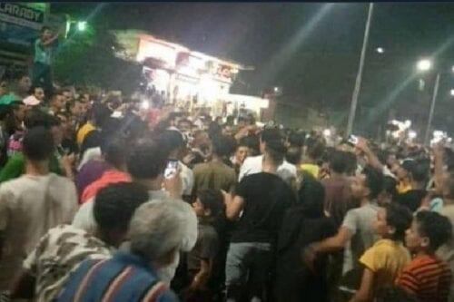 Egyptians protest against Egyptian President Abdel Fattal Al-Sisi on 21 September 2020 [althani_faisal/Twitter]