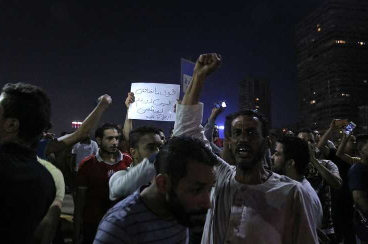 Rare anti-Sisi protests lead to crackdown, arrests in Egypt [@ArabyOrg/Twitter]