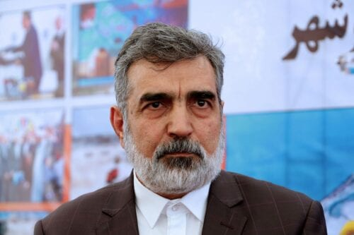 Iran's Atomic Energy Organization spokesman Behrouz Kamalvandi is seen during an official ceremony to kick-start works for a second nuclear reactor at Bushehr power plant, on 10 November 2019. [ATTA KENARE/AFP via Getty Images]