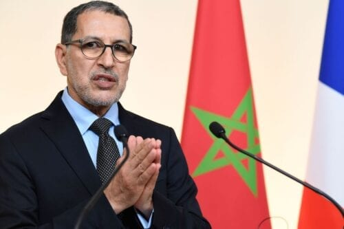 Morocco's Prime Minister Saad-Eddine El Othmani in Paris on 19 December 2019. [BERTRAND GUAY/AFP via Getty Images]